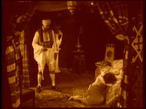 Rewatching _The Sheik_ just recently I was struck at the extraordinary charisma that Valentino projects through the screen, even through flicker, silent, sepia-toned images now almost 90 years old.  What male Hollywood actor working today would even be fit to shine Valentino's shoes?