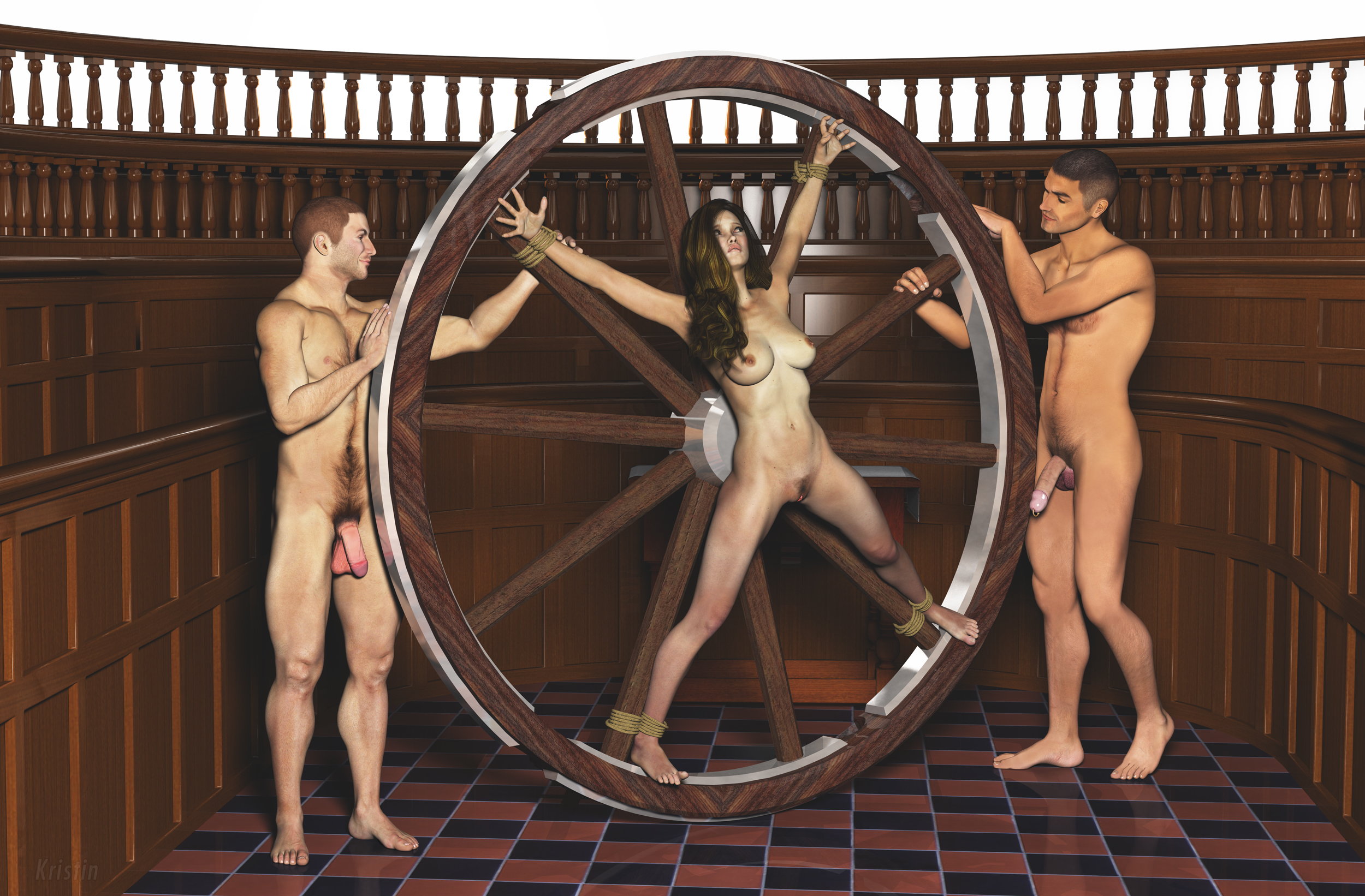 Wheel bondage sex
