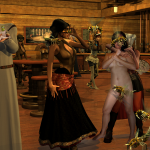 Many gorgeous Dynas play various roles in a mad science steampunk tavern!