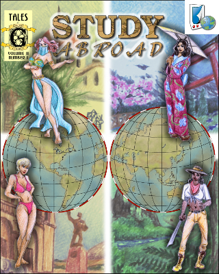 Four coed heroines fantasize studies in foreign lands