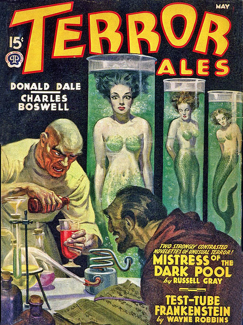 Mad scientists made mermaids in tubes!