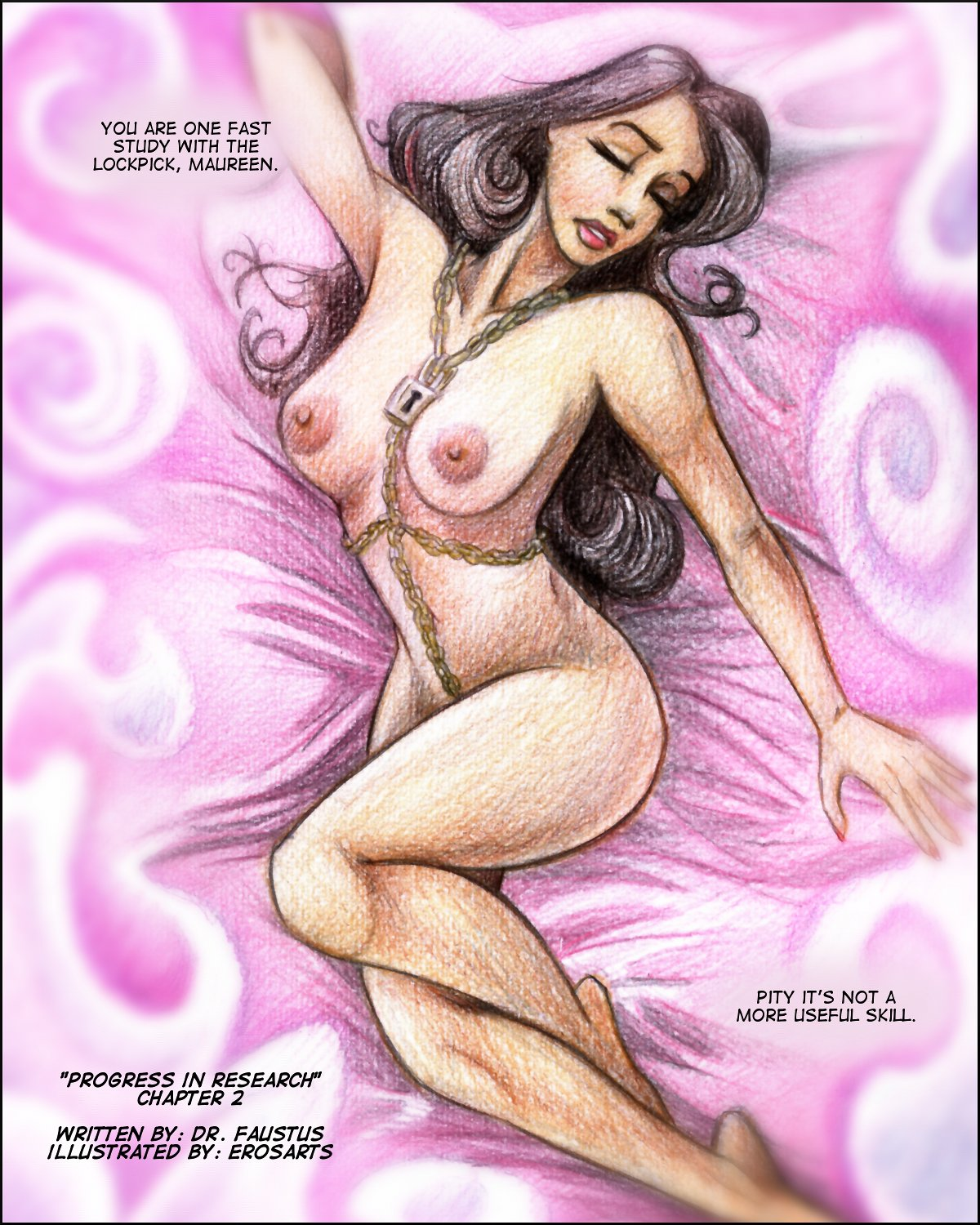 A pin-up of Moira Weir constructed in Aloysius's mind's eye.