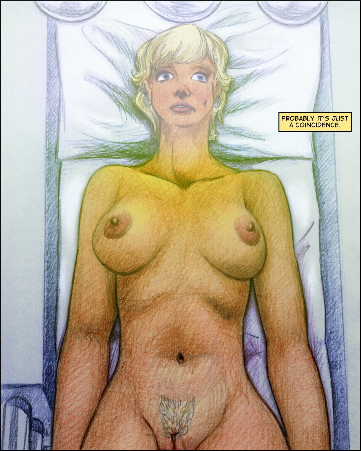 Jill naked in the scanner -- a color page.
