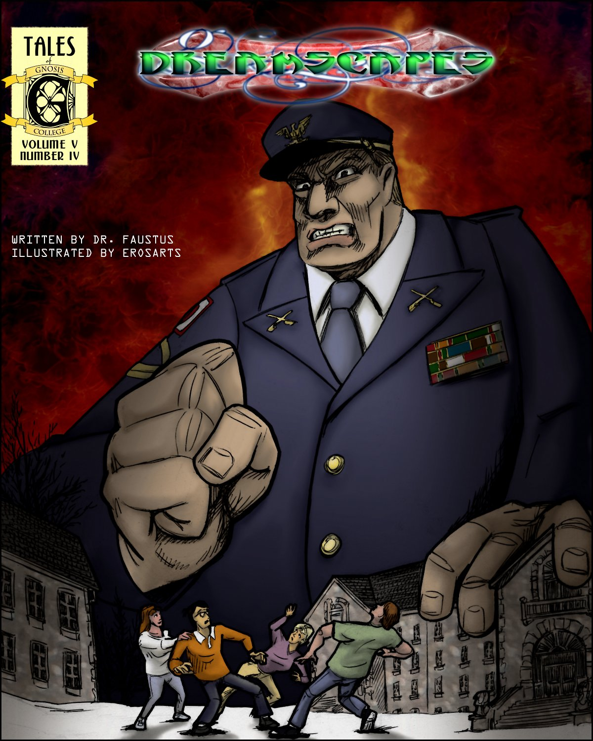 The giant fist of Colonel Madder reaches down to crush our heroes!