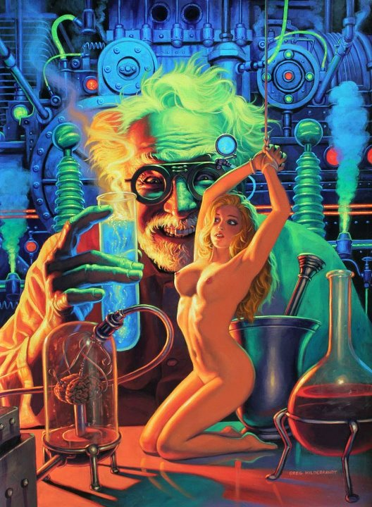 Not that Mad scientist science fiction women naked with