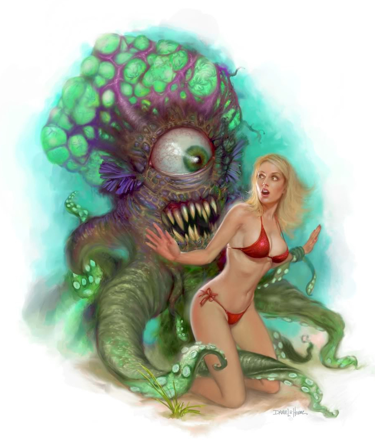 Erotic monster sexy woman
