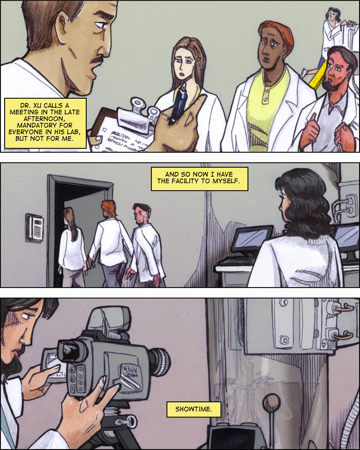 Hope is 'unwisely' left alone in the lab.