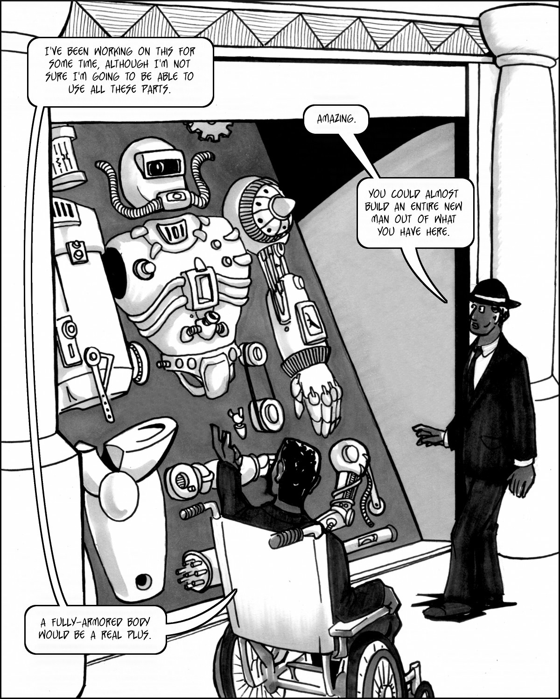 Giant cyborg super-suit!