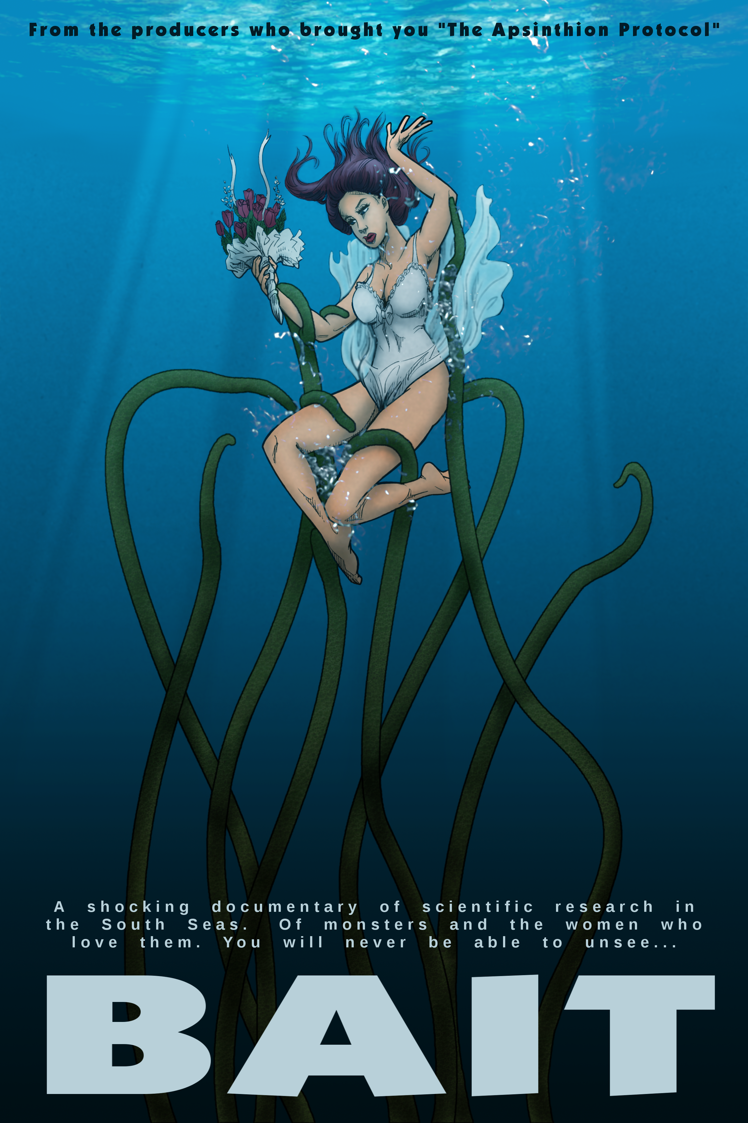 """Imagined poster promoting the tentacle sex pseudo-documentary """"Bait."""""""
