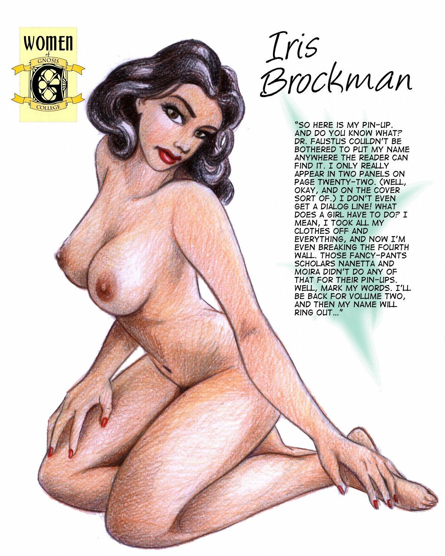 naked Iris Brockman pinup