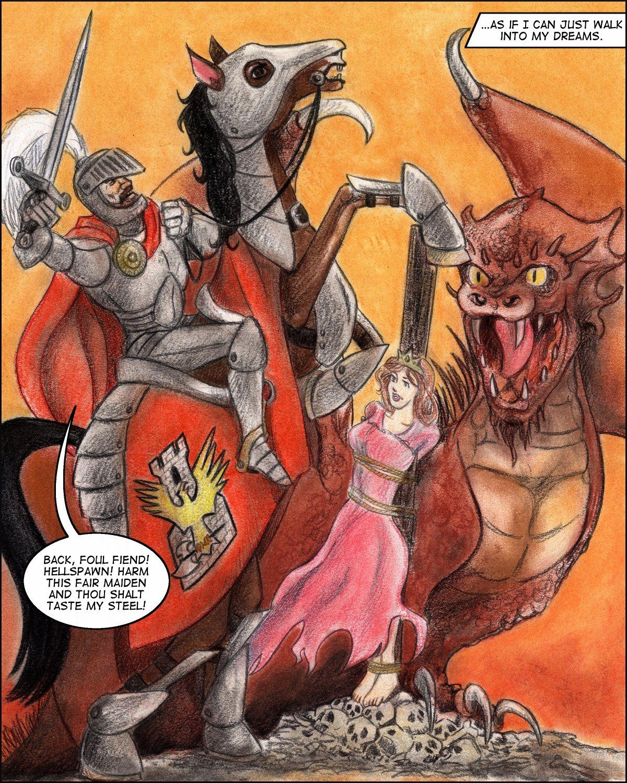 Nanetta dreams of bondage, a horrid dragon, and a brave knight.