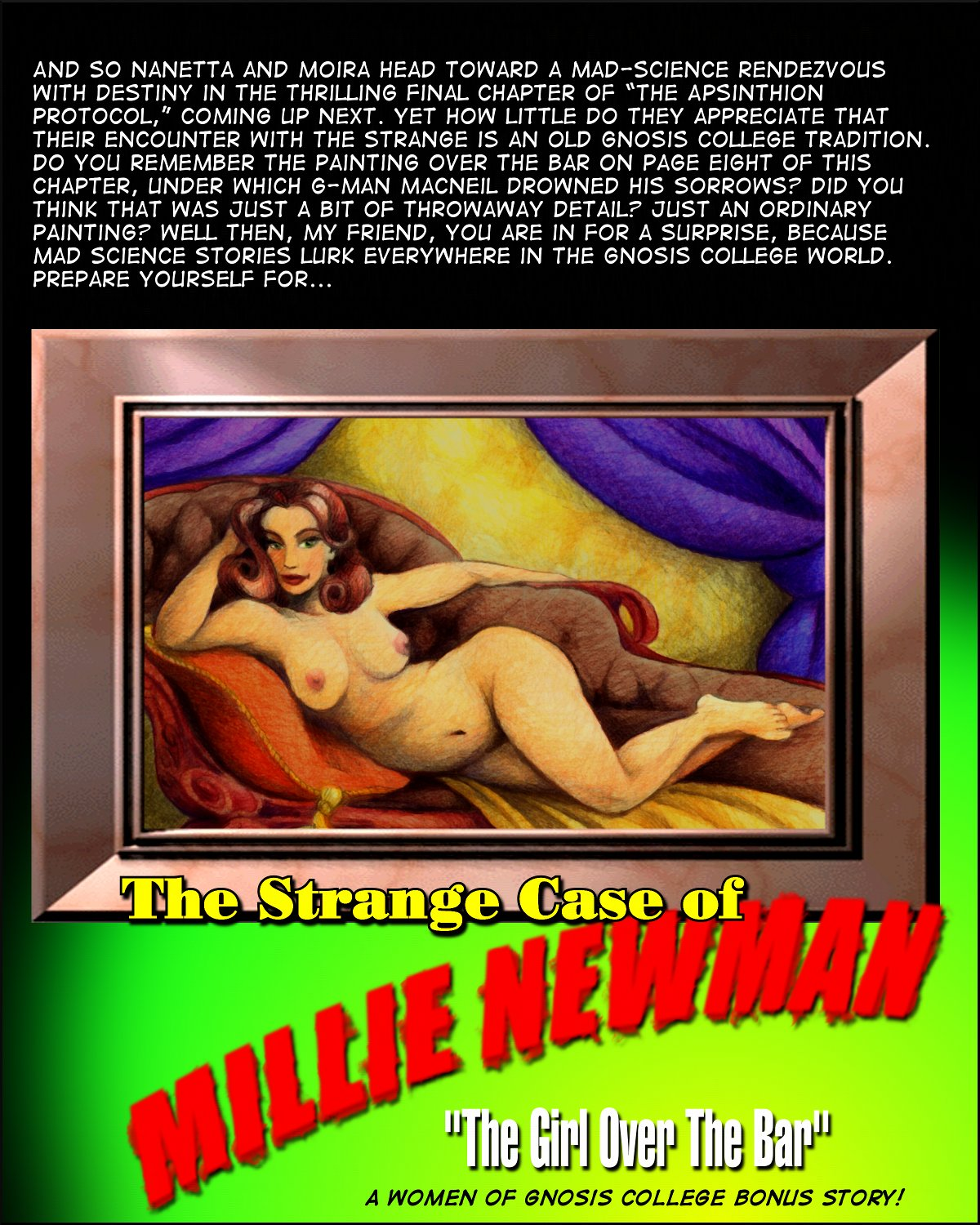 Millie Newman sexy pulpy pin-up