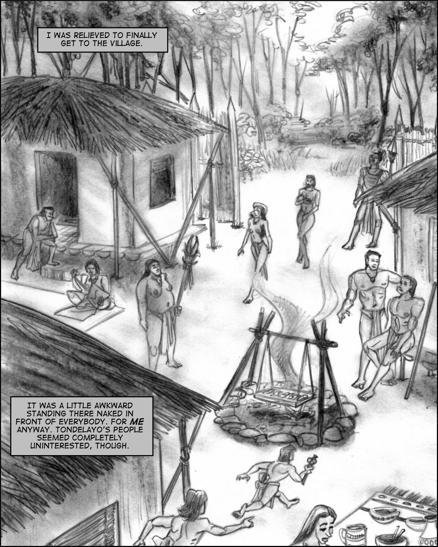 Cleo arrives naked in Tondelayo's village