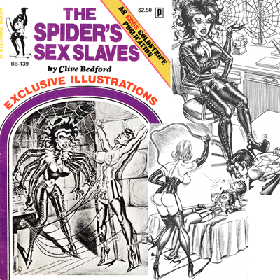 """Cover to a book """"The Spider's Sex Slaves."""""""