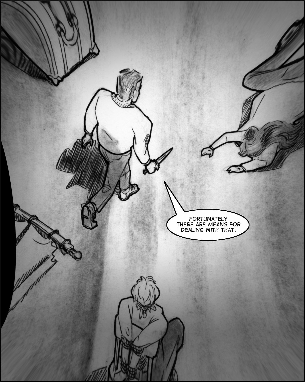 Samson stalks toward Maureen with a knife.