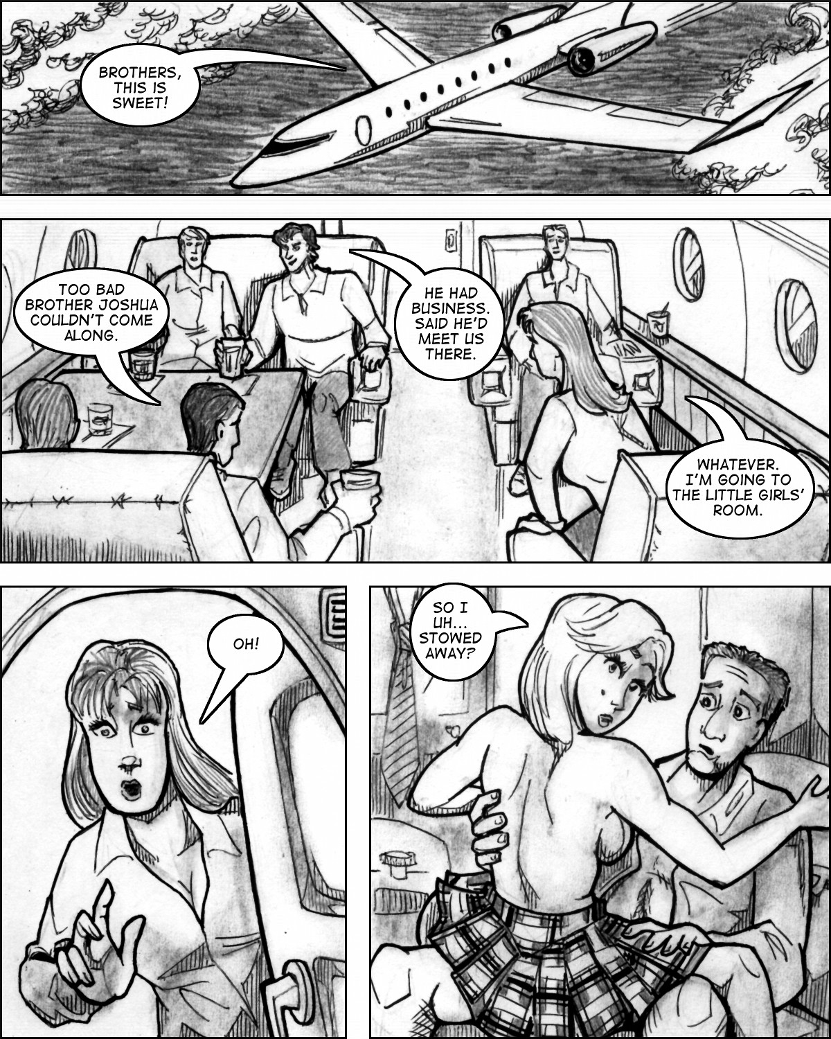 And someone also gets to join the mile-high club.