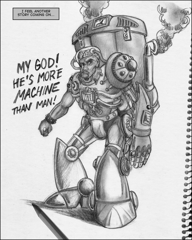 Dieselpunk cyborg supervillain Vernon Jackson!