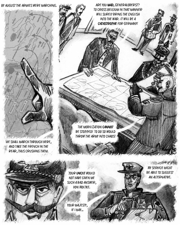An alternative to the Schlieffen plan changes world history