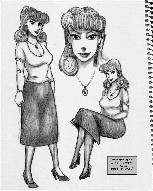 A winsome heroine figure.