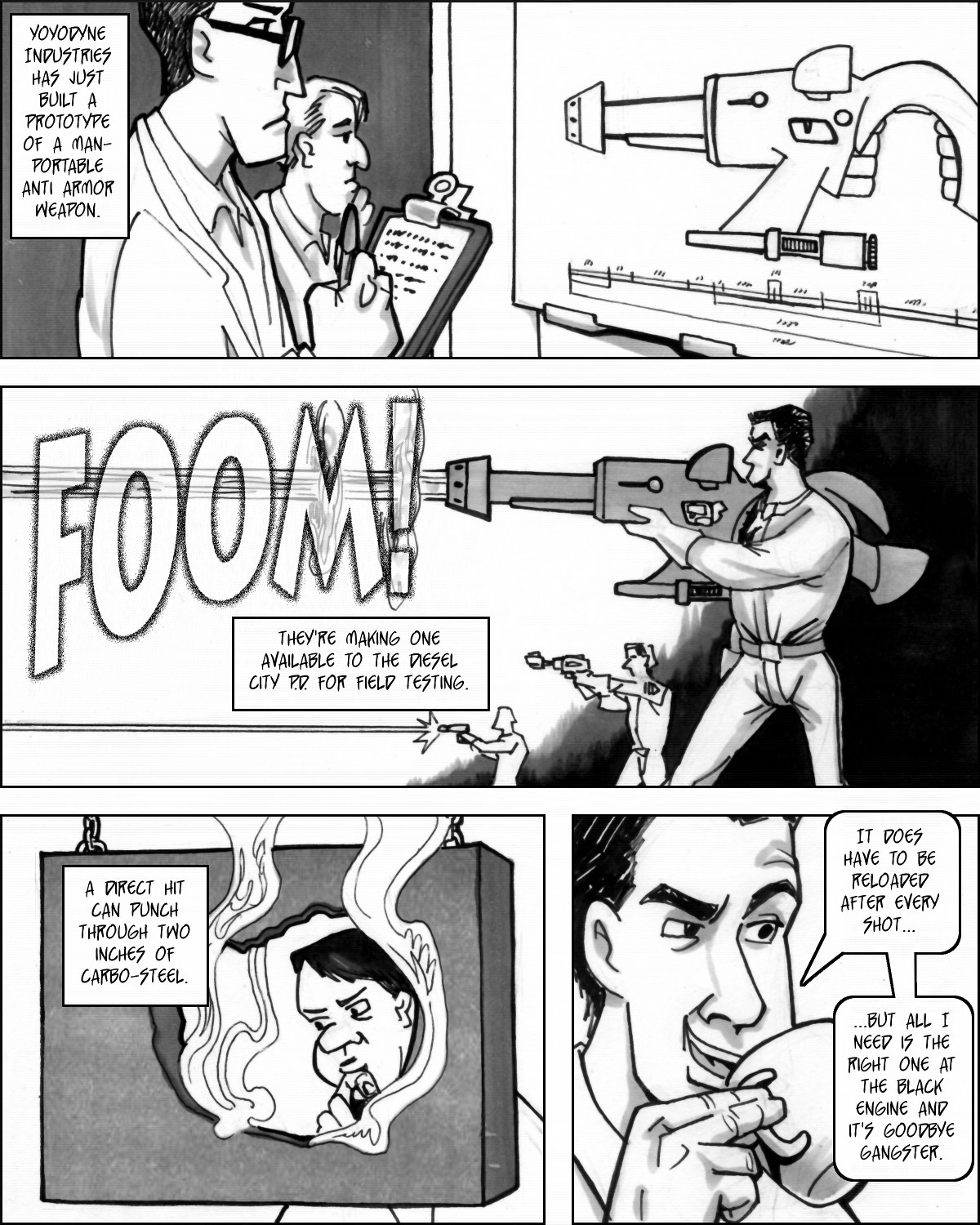 jack Rock has giant gun that goes 'foom!'