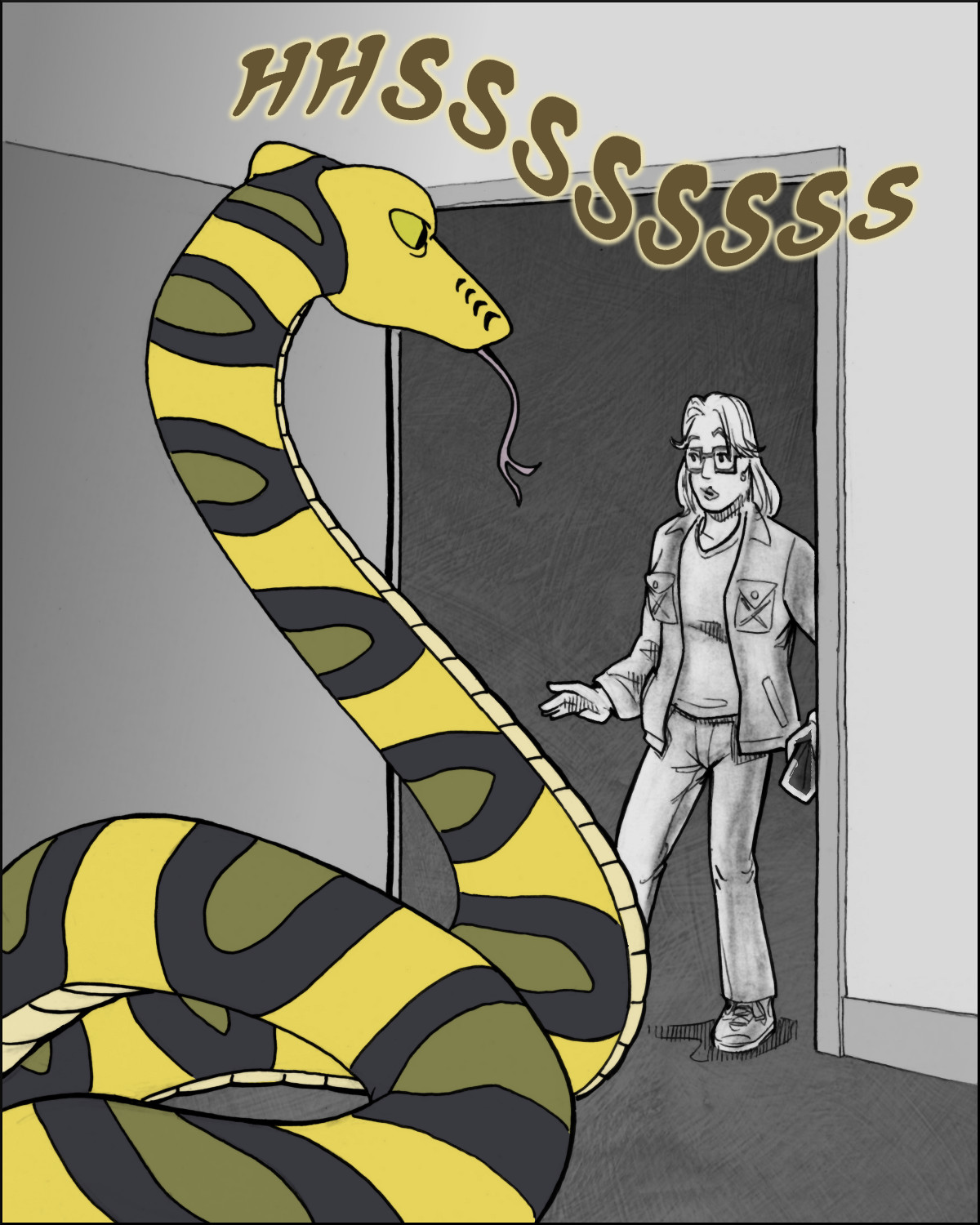 Oh crap! Giant snake!