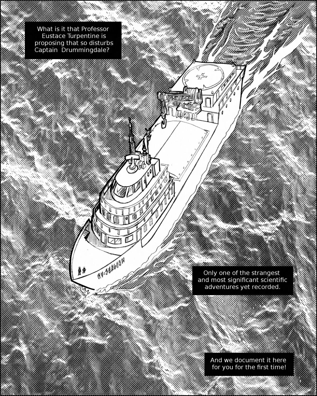 The RV Seagoon at sea.