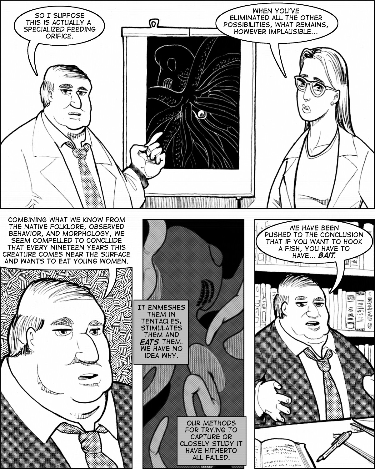Professor Turpentine explains the point of the plot.