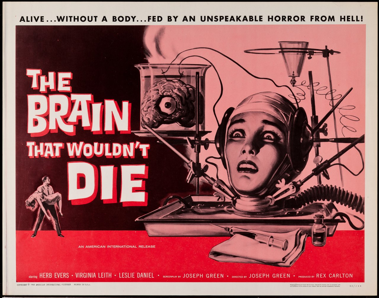 The Brain That Would Not Die movie poster