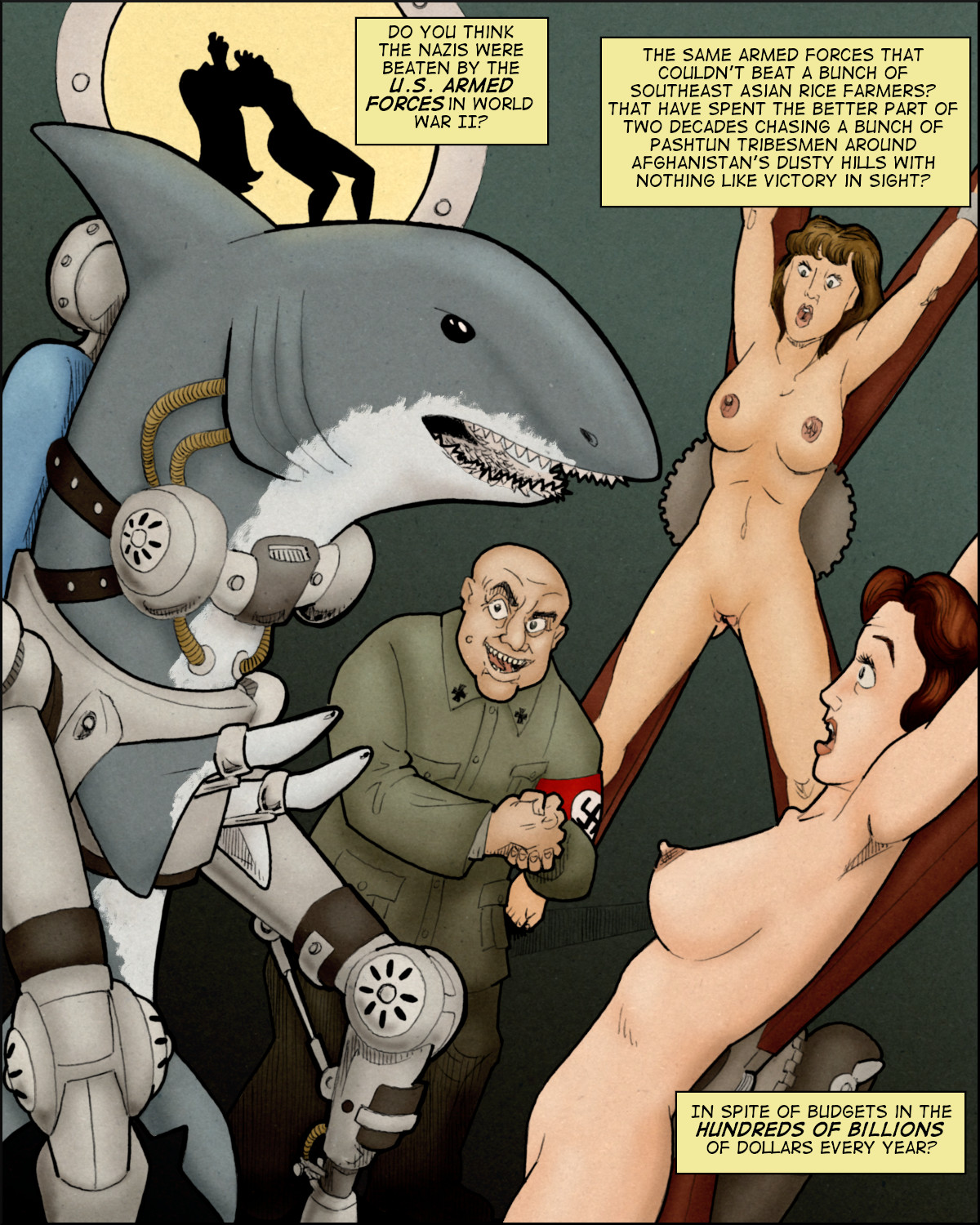 Hitler's Hideous Human-Shark Hybrid Program!