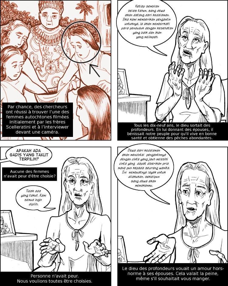 Une ancienne survivante révèle le secret du rituel obscène.