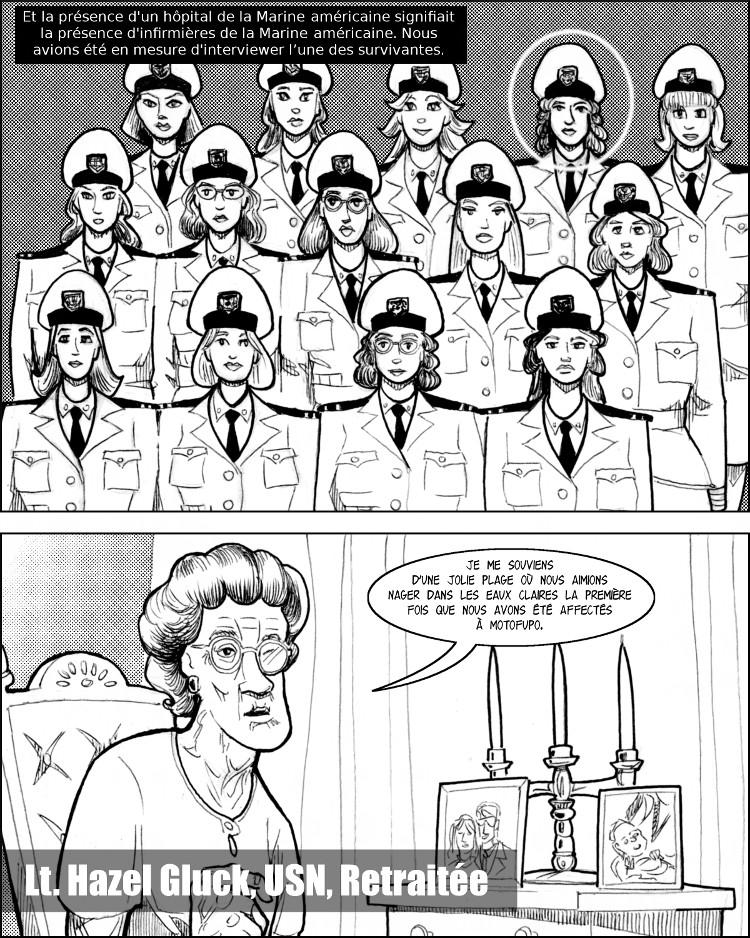 Une base de la Marine américaine signifie la présence de jolies infirmières.