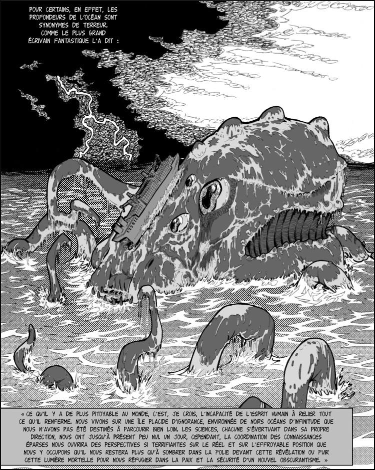 « L'Appel de Cthulhu » de Lovecraft est cité.