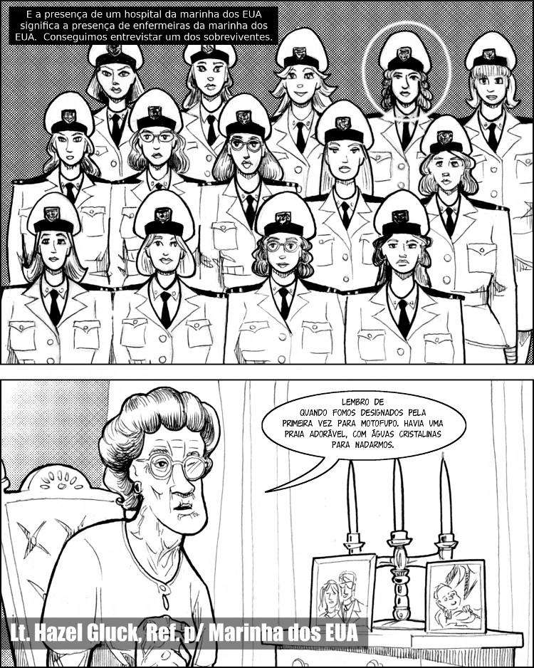 A base da marinha dos EUA traz consigo belas enfermeiras americanas.