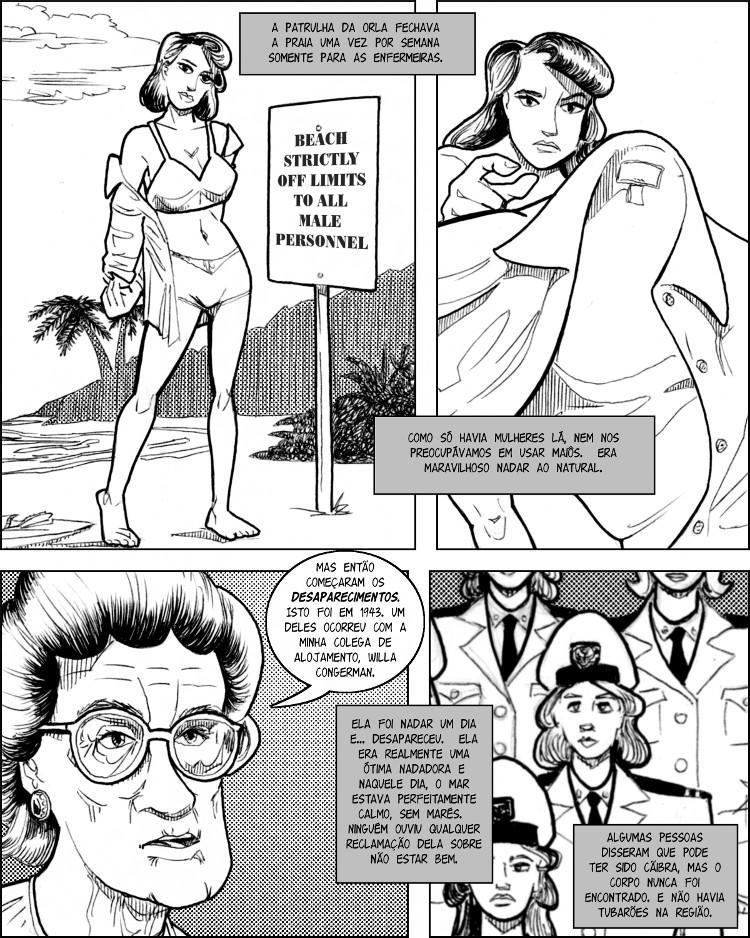 A marinha libera a praia para suas enfermeiras sensuais.