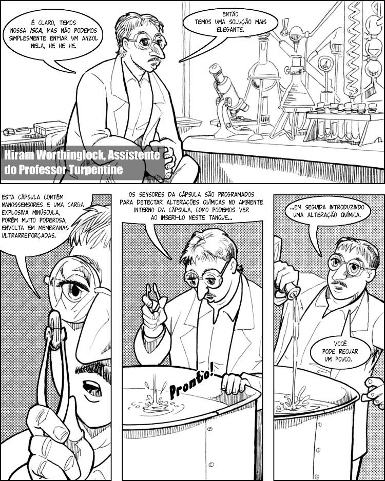A cápsula explosiva miraculosa de Hiram Worthinglock.