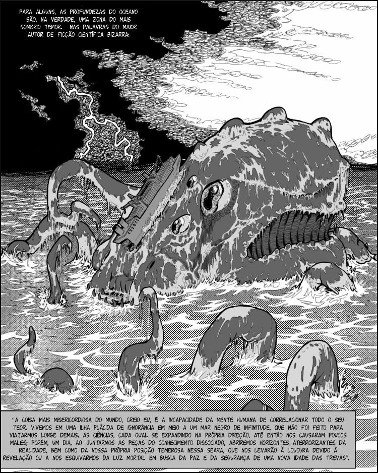 """Citações de """"Call of Cthulhu"""" de autoria de Lovecraft."""