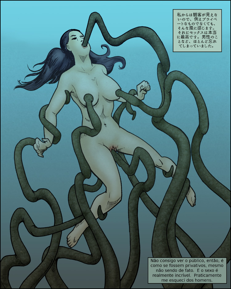 E para Chiba, o sexo com os tentáculos é incrivelmente inspirador.