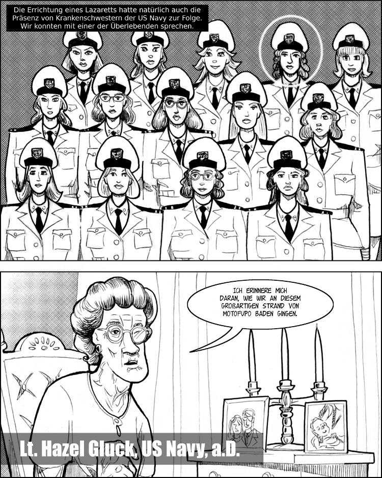 Ein Stützpunkt der US Navy bedeutet hübsche Krankenschwestern der US Navy.