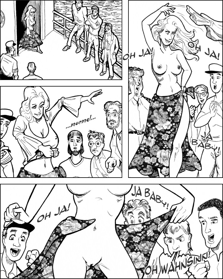 Eliza macht einen sexy Strip.