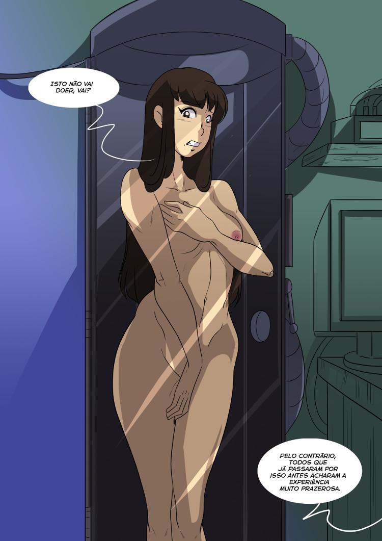 Confinada em um tubo, Yuko começa a imaginar se ser transformada em um líquido vai doer.