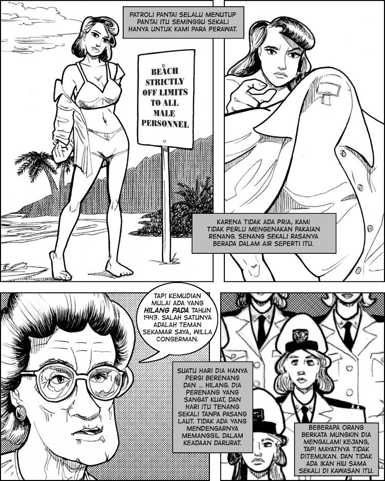 Angkatan Laut mengadakan waktu berenang untuk para perawat seksi.