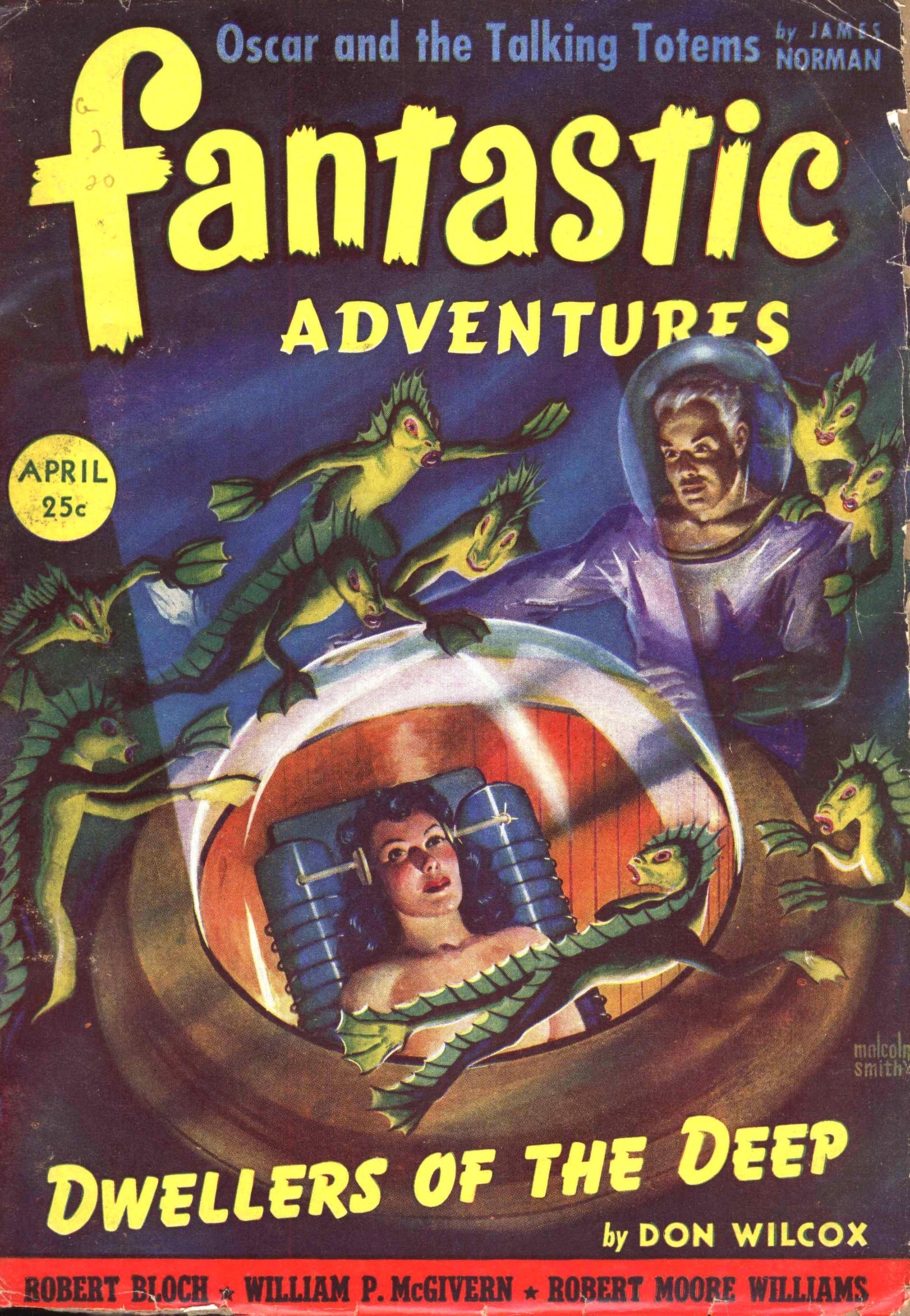 Malcolm Smith cover for Fantastic Adventures, April 1942.