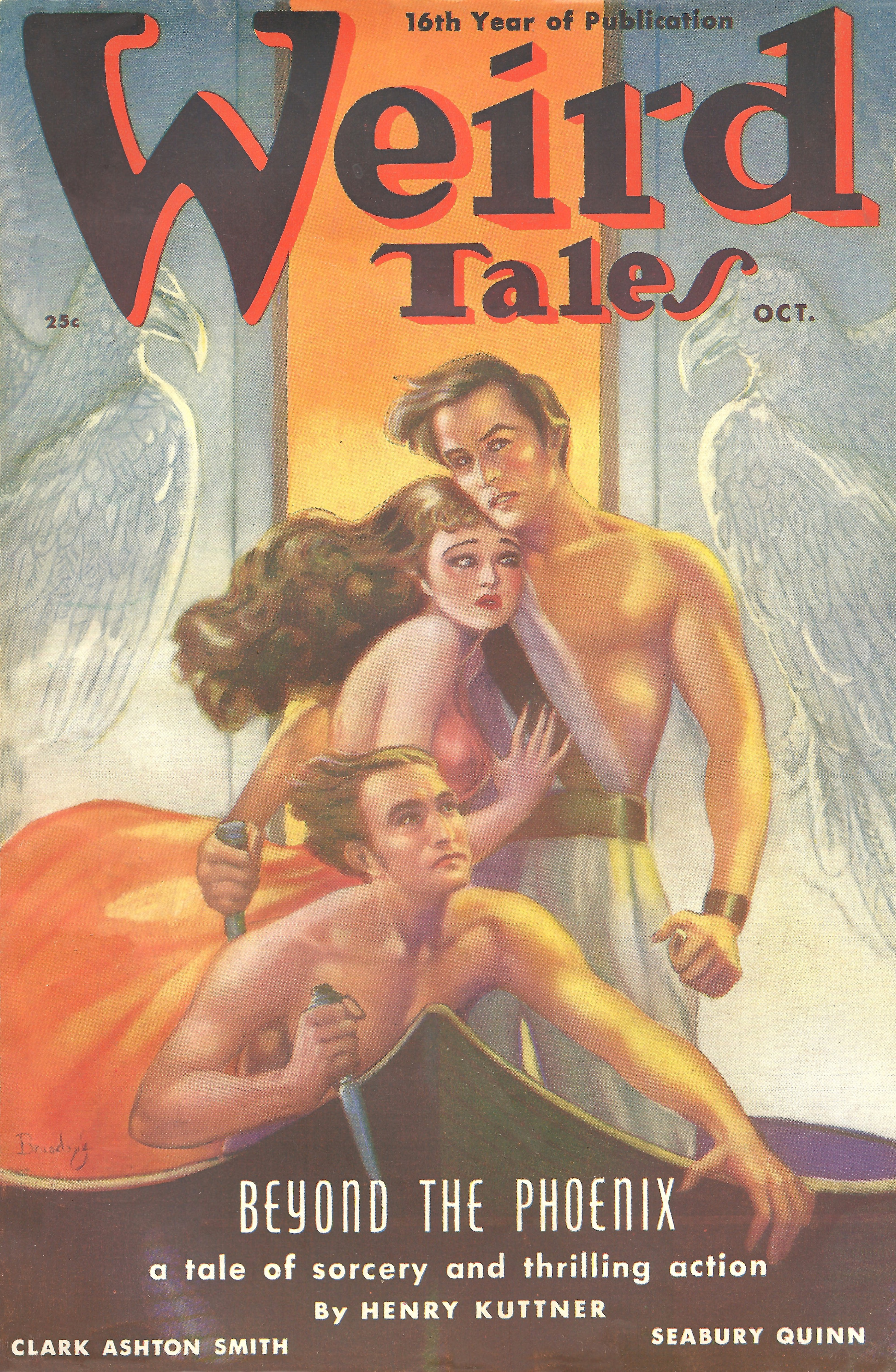 A cover by Margaret Brundage for Weird Tales, October 1938.