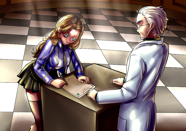 Pamela Rei signs the final consent before undergoing the procedure to be transformed into a gel girl.