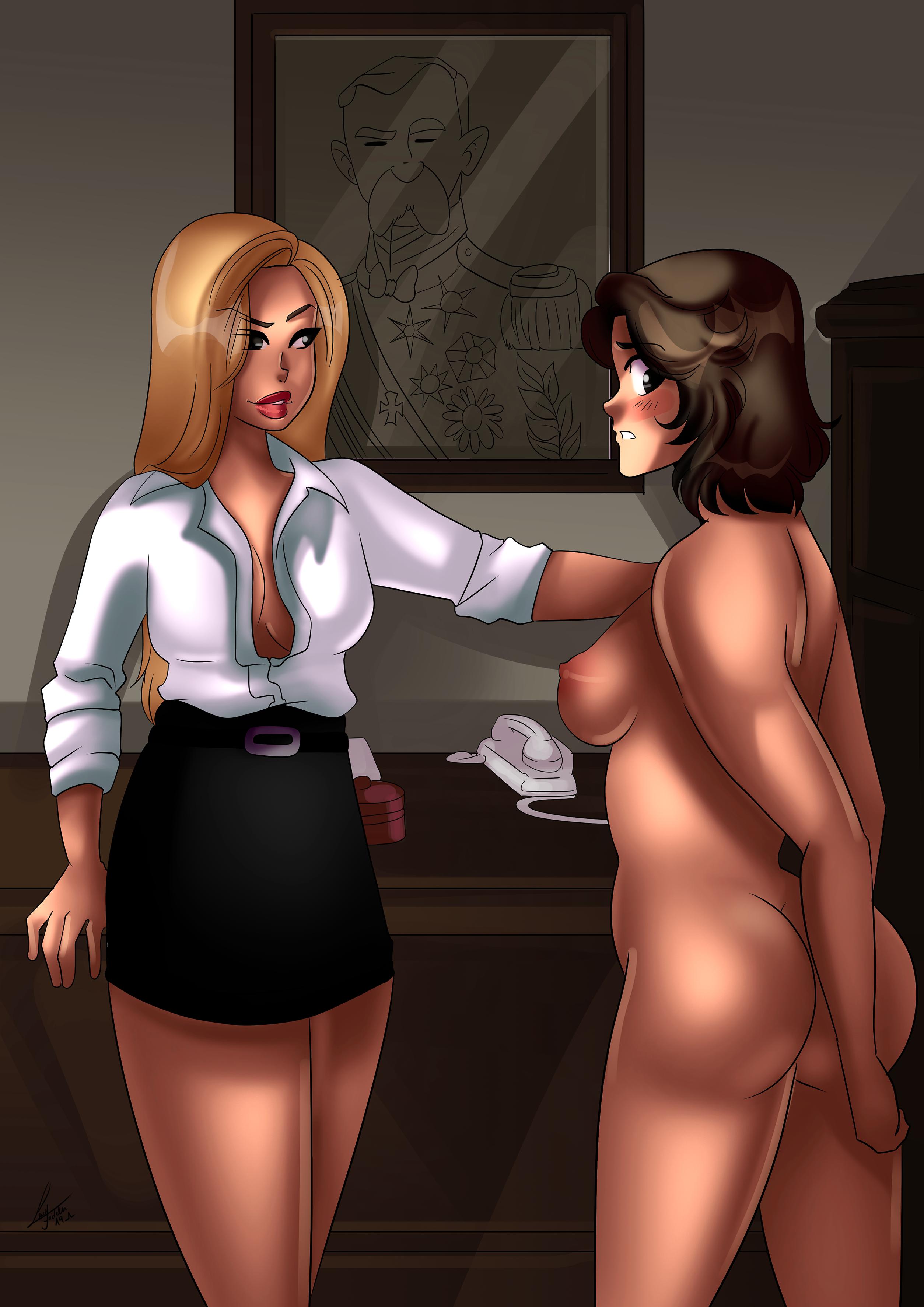 The depraved warden in Bare Behind Bars enjoys a new prisoner.
