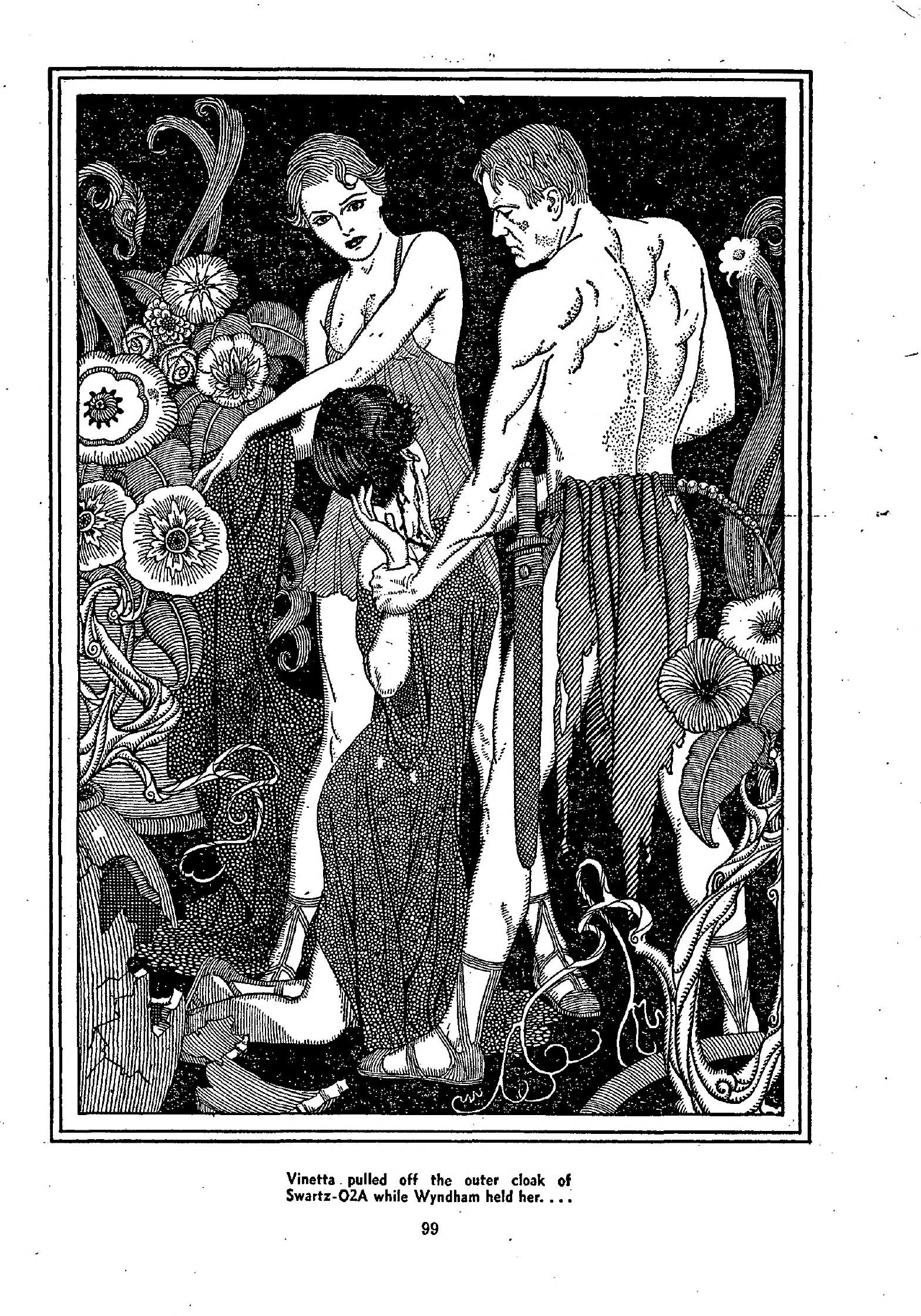 "Interior illustration by Lawrence Sterne Stevens for ""The Adventure of Wyndam Smith."""