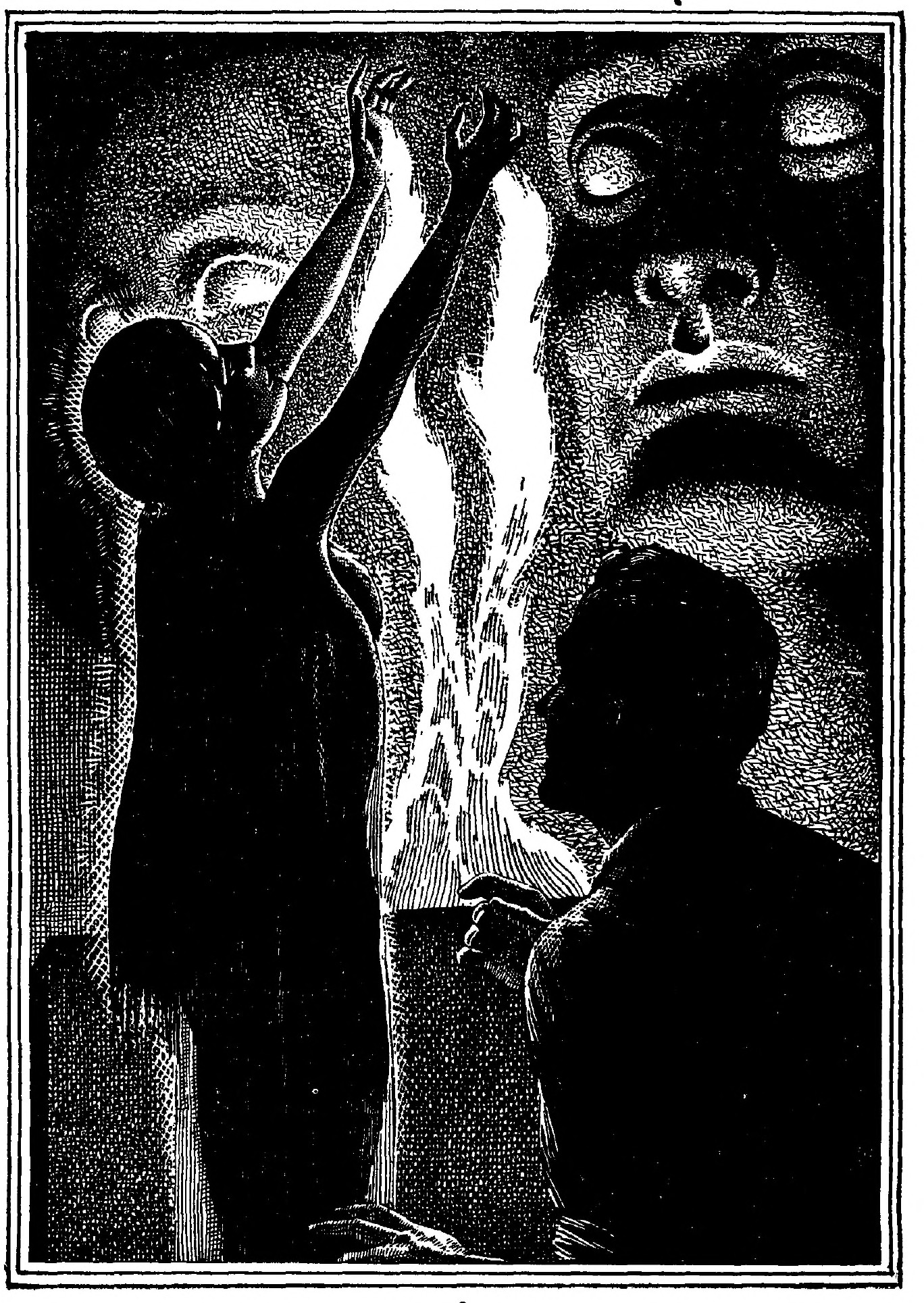 Priestess ritual illustrated by Lawrence Stern Stevens.