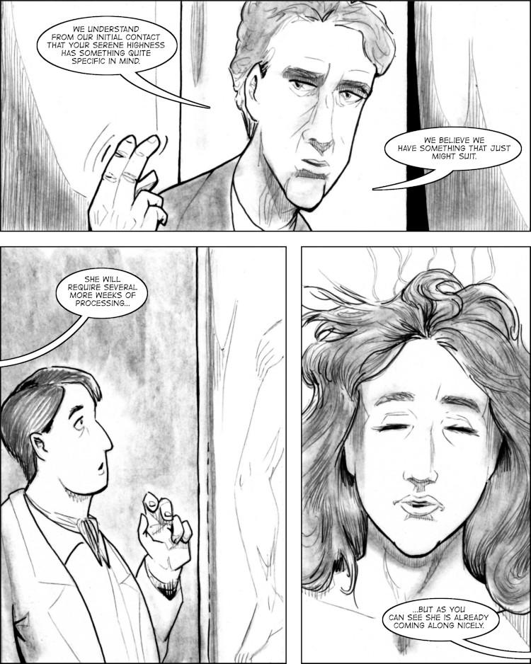 Raz encounters the descenscing Esther in a tube.