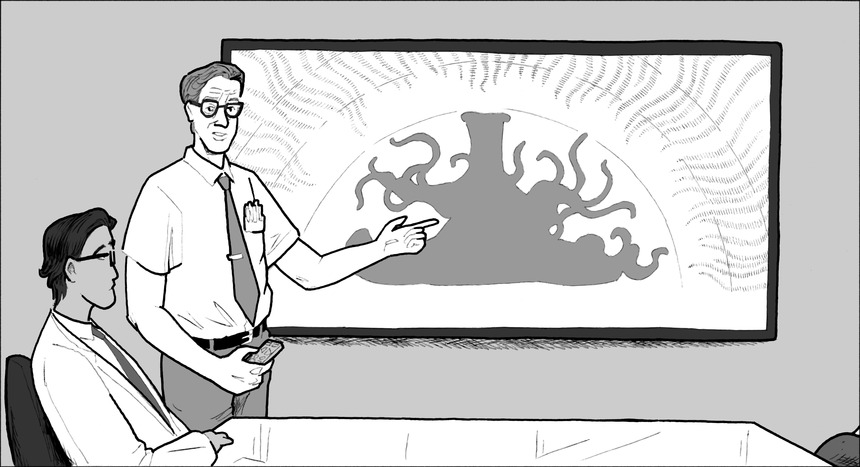 Dr. Eddie explains the creature's strange desire.