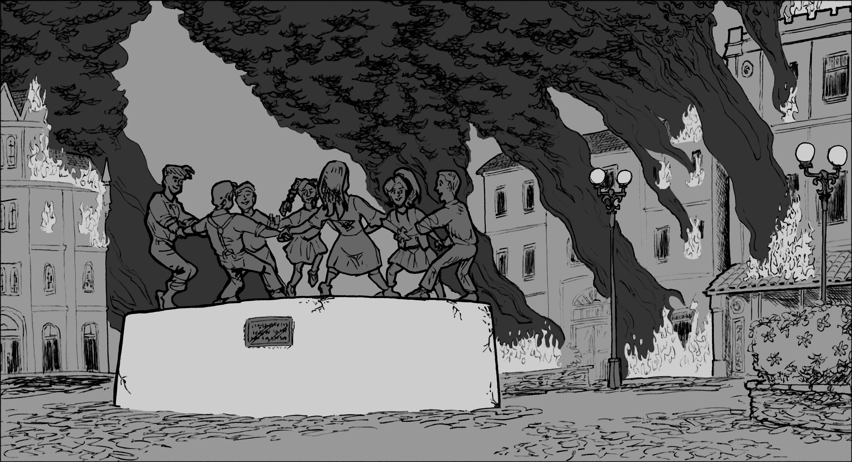 Inspired by Stalingrad.